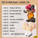 Список сладостей полезных для здоровья