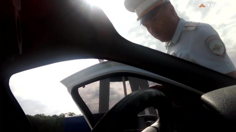 Реакция Сотрудников ДПС на автошторки Трокот