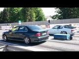 BMW 540i E39 4.4K vs Porsche 924 Turbo 18mile drag race