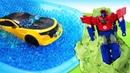 Трансформеры играют в Прятки видео - Игры в Машинки для детей