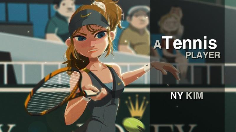 Photoshop painting process - A Tennis Player 포토샵 CC [NYkim][Digital Painting]