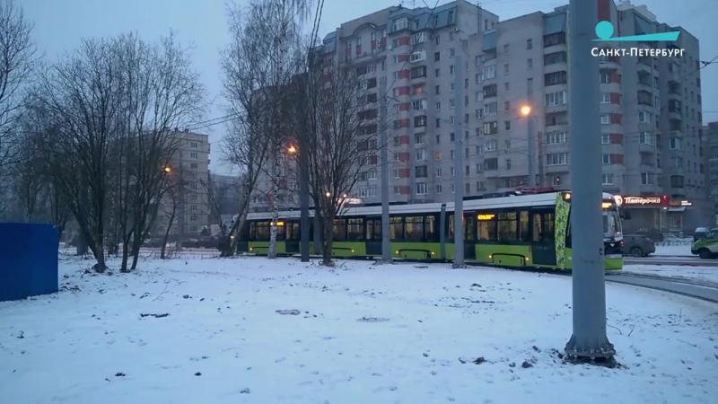Самый длинный трамвай в СНГ — «Чижик» — сделал первый круг