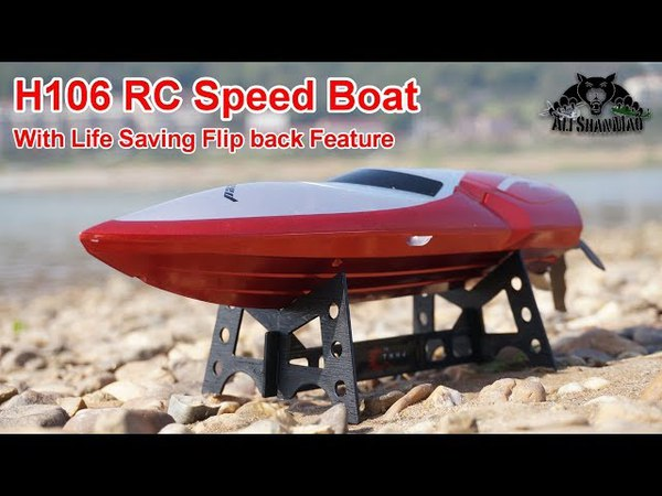 H106 Mini RC Speed Boat with Self Flip Back Feature