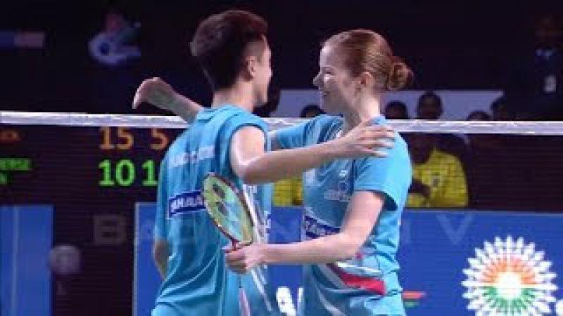 Badminton 2018 Premier League TANG Chun Man Christinna PEDERSEN vs Chris ADCOCK Gabrielle ADCOCK