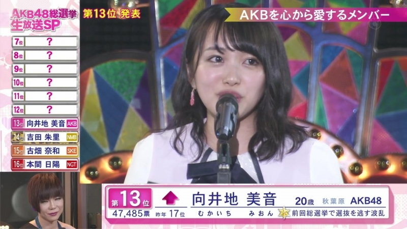 180616 第10回AKB48世界選抜総選挙2018(フジ副音声)