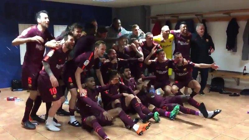 Celebración FC Barcelona Vestuario