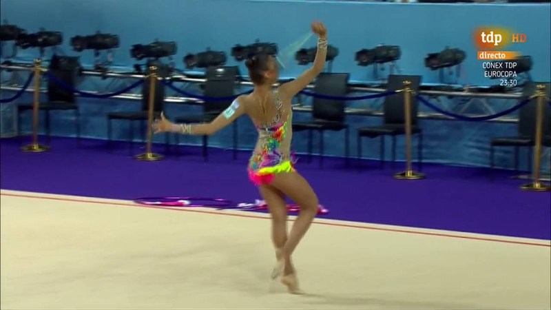Israel. 2016 European Rhythmic Gymnastics Championships. EF. Clubs Hoops