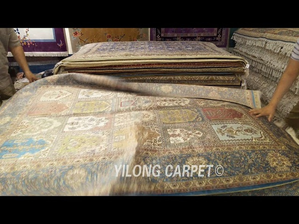Select the hand knotted carpets in our warehouse.
