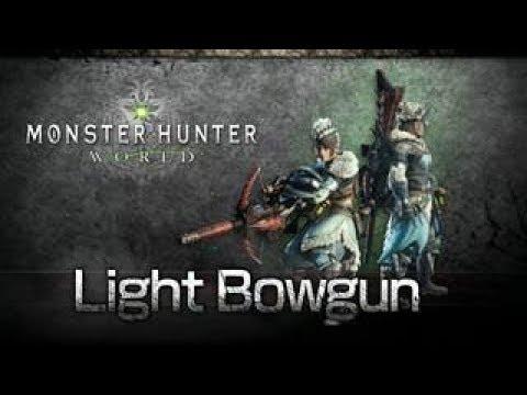 MHW - как пользоваться лёгким лукорудием (light bowgun, LBG)