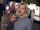 Kurt Cobain, Courtney Love and Frances Bean Cobain Backstage at the 1993 VMAs