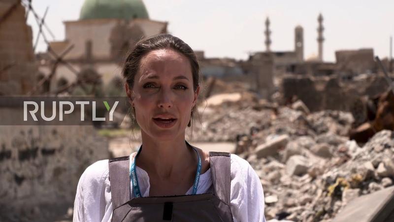 Iraq 'The worst devastation I've seen' Angelina Jolie visits Mosul on Eid