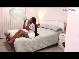 MacVille - Mint Green Balloon - Blowing and Popping a Massive Balloon ft. Accidental Pop