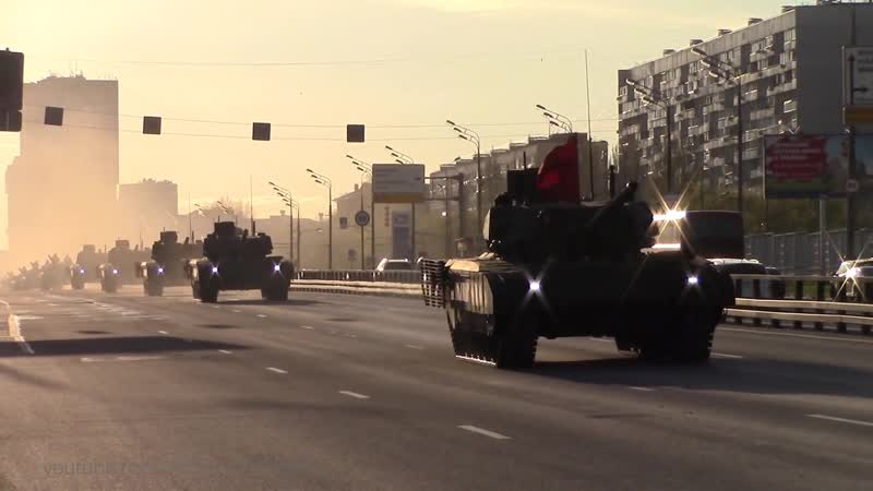 Армата Т-14, Коалиция-СВ, Мста-С, Бук-М2. Репетиция парада Победы в Москве на Красной площади 2017