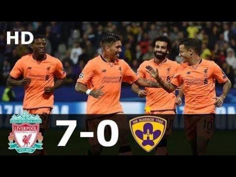 Liverpool vs Maribor 7-0 Full Highlights Goals UCL 18/10/2017 HD