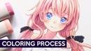 【Copic Markers】Miwa - Coloring Process