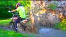 Школьник на Питбайке застрял в болоте Test Drive The Cross bike or Pitbike