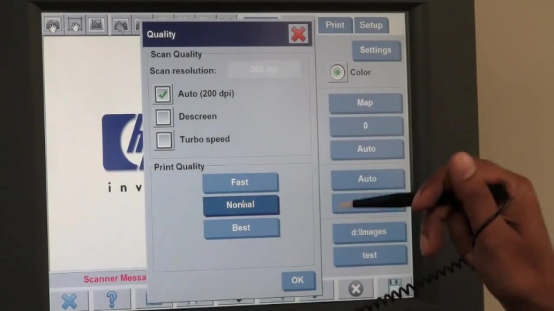 HP Designjet T1200 HD-MFP Network Set-Up and Scanning to a Network Drive