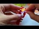 Как плести самый простой браслет из резинок на рогатке_low