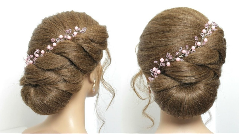 Easy Bun Hairstyle For Long Hair Tutorial. Simple Juda Style