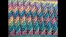 Bufanda infinita a crochet Paso a paso punto diagonal a crochet crocheted scarf