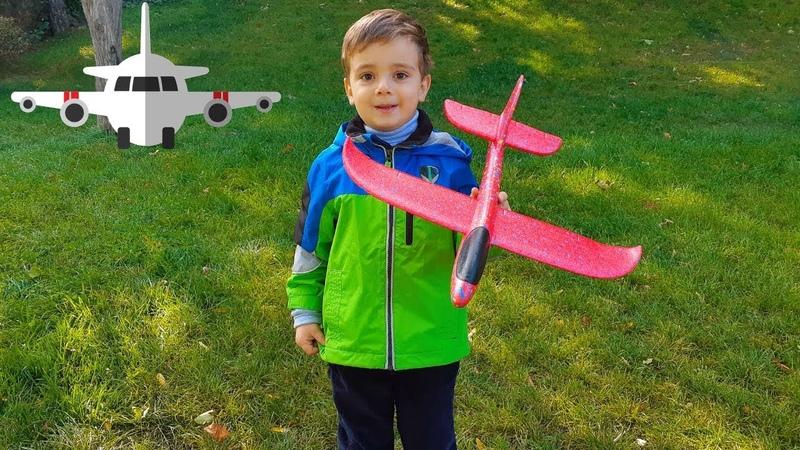 Самолет из пенопласта Видео для детей Planes for kids