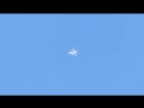 16.4.2012 Chemtrail white Jet Fake plane Orb Plasma entity UFO over über Voerde SX230