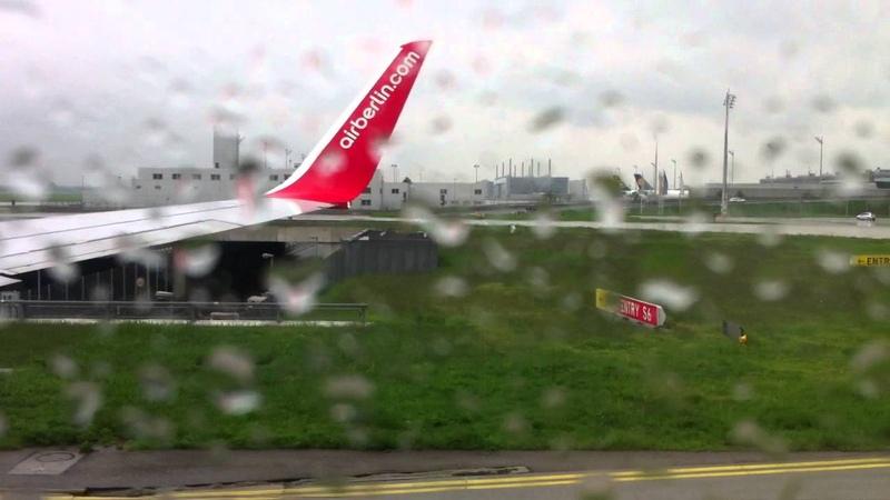 взлет самолета из аэропорта МЮНХЕНА / startendes Flugzeug vom Flughafen in München