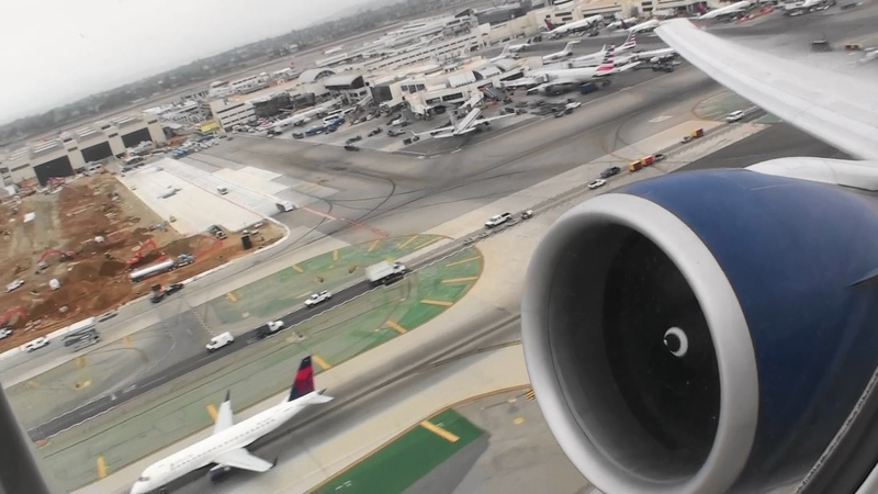 Massive Blue Engines Incredible HD Boeing 777-200LR Takeoff From Los Angeles California
