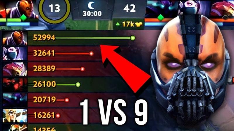 Epic Sh*t 1 vs 9 Anti-Mage Impossible Comeback 10 Item Build Insane 59k Networth - Dota 2