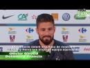 Olivier Giroud lamenta que Henry esté con Bélgica