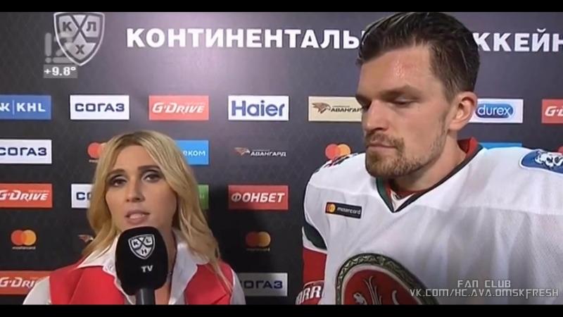 Дарья Миронова интервью с Антон Ландером после 2 периода