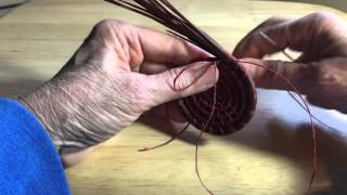 Pine Needle Coiling adding threads