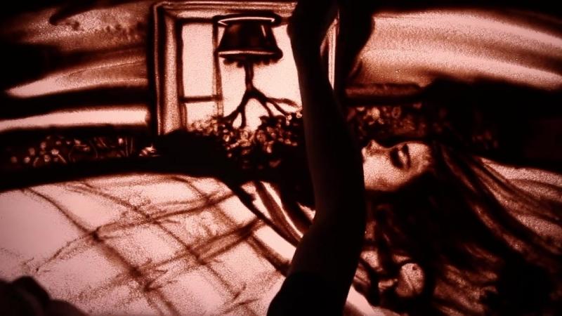 Памяти Виктора Цоя - песочный фильм Спокойная Ночь (2016) - Ксения Симонова