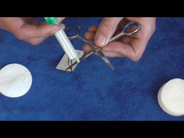 Доводим ножницы до бритвенного среза пастой ВОСХОД