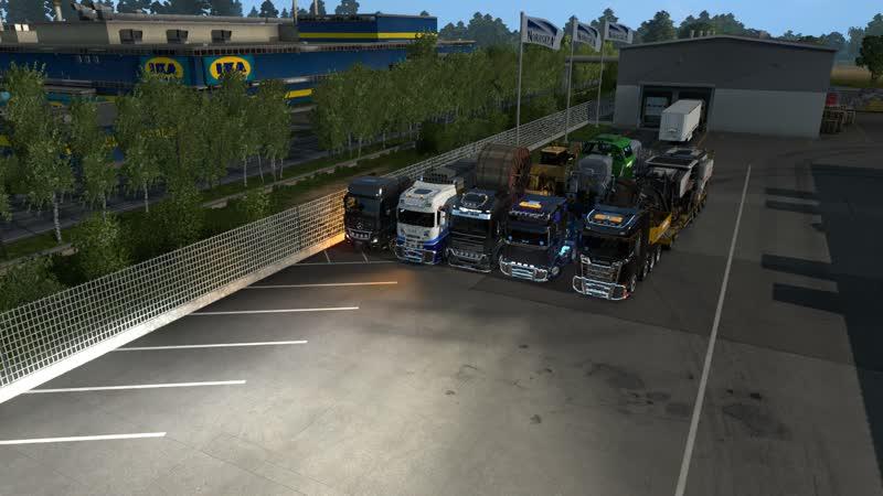 Вечерний Конвой в Euro Truck Simulator 2 от MTI