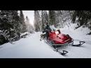 Покатушки на снегоходе Небольшое падение