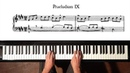 Bach Prelude and Fugue No 9 Well Tempered Clavier Book 1 with Harmonic Pedal