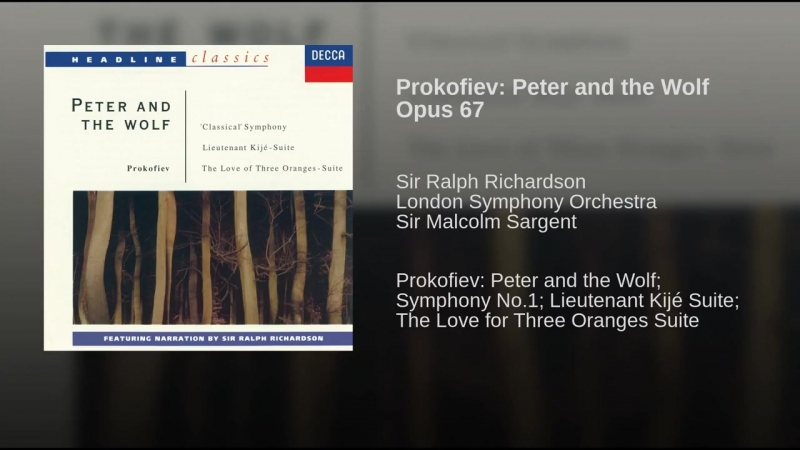 Prokofiev Peter and the Wolf Opus 67