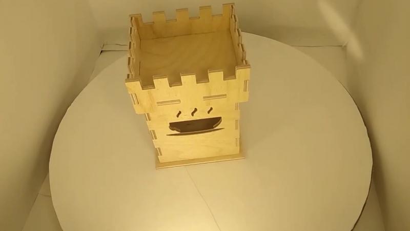 Подарочная коробка с вырезом