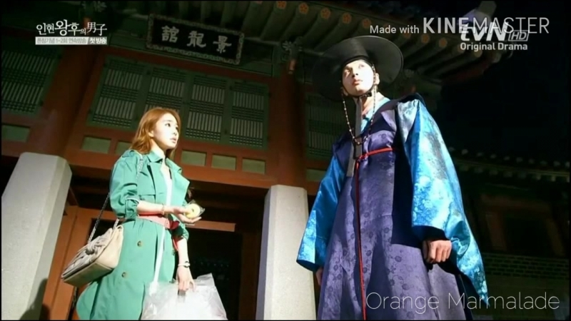Отрывок из дорамы Рыцарь королевы Ин Хён (Такой мне запомнилась наша первая встреча) 01 серия озвучка GREEN TEA