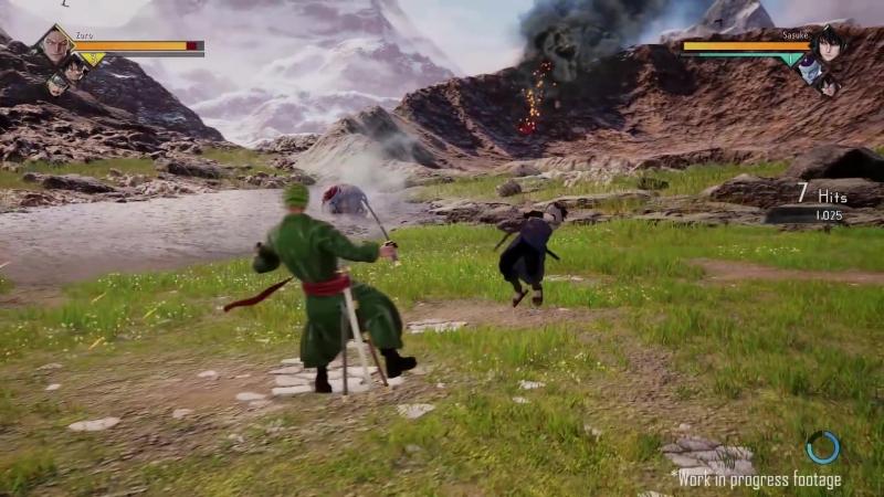 JUMP Force - PS4⁄XB1⁄PC - Gameplay Session 2 (Zoro VS Sasuke)