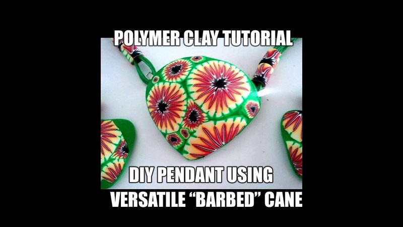 -088-Polymer clay tutorial - DIY set using barbed cane