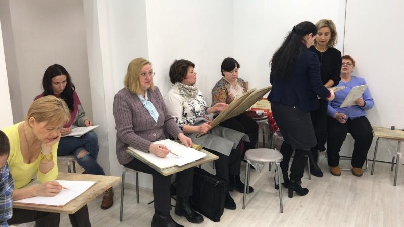 Студия «Живопись Маслом». Открытый урок по написанию обнаженной натуры. Ольга Базанова
