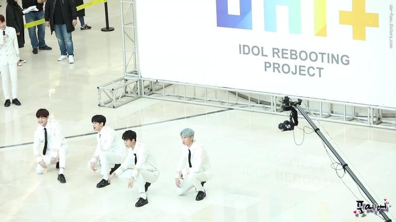 180211 더유닛B(The Unit B) 댄스메들리 [타임스퀘어 게릴라공연] 직캠 by 포에버