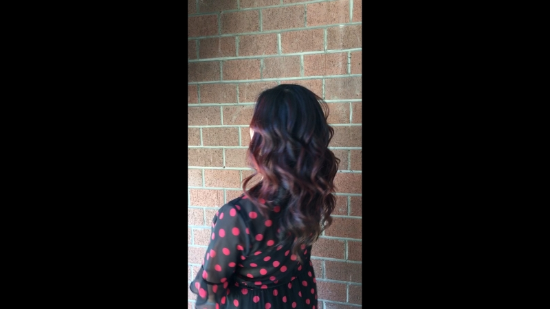 Blow dry and curls