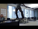 Skateboarders take over a Chicago office space Red Bull Daily Grind