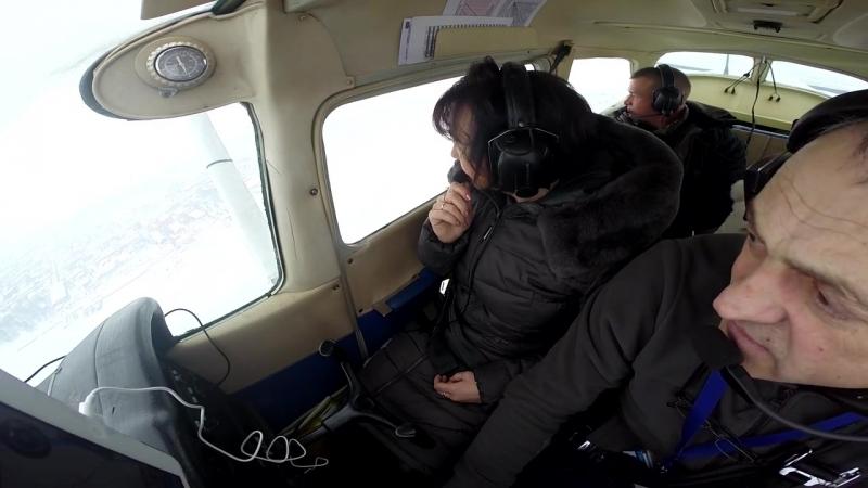 Санкт-Петербург. Полет на самолете Cessna-172.