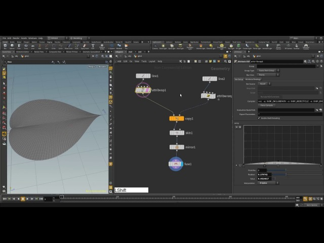 Houdini 16 vex withered leaf modeling