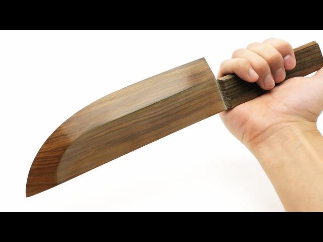 Самый острый кухонный нож из дерева