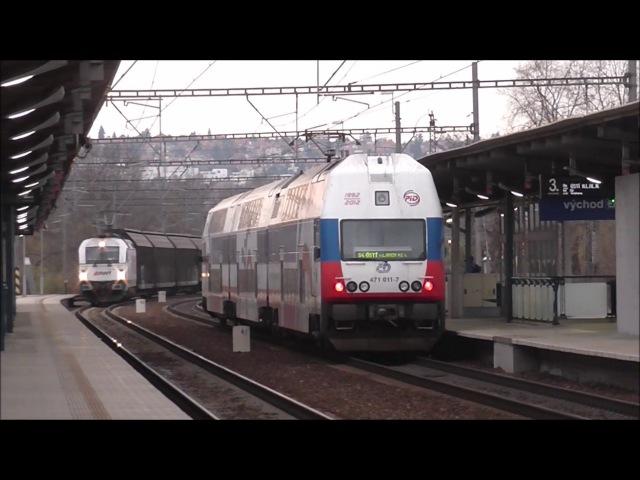 Šocení | Vlaky ve stanici Praha-Holešovice 18.11.2017